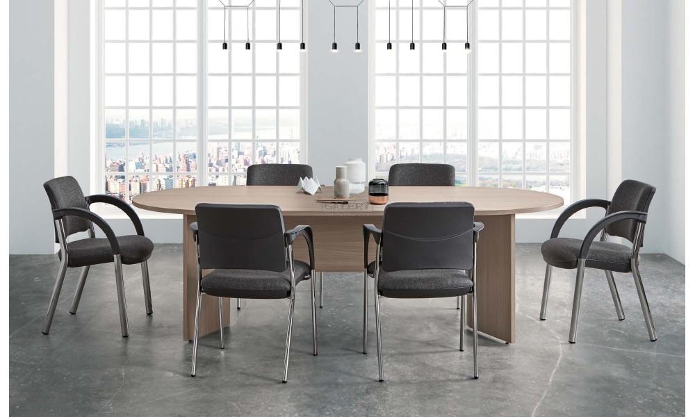 Mesa de reunion ovalada 220 x 110